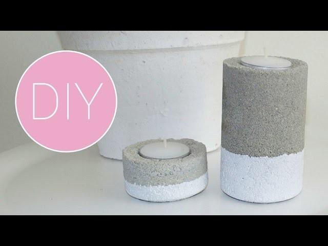 DIY Cementen waxinelichthouder