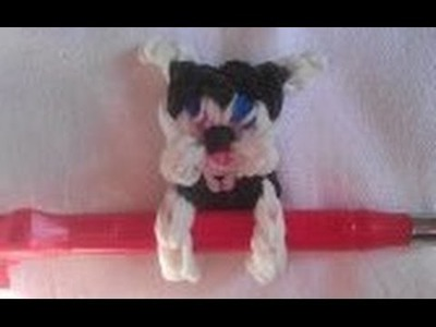 Rainbow Loom Nederlands: Pen klemmer hondje (original design) charm
