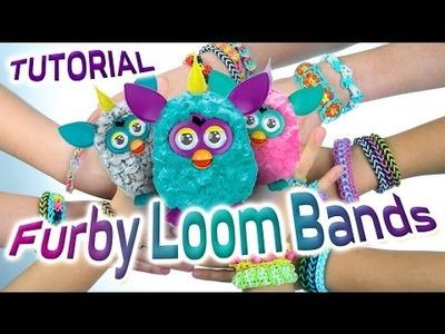 Loom Bands Instructies - Hoe maak je een weefgetouw armband Tutorial Furby weefgetouw band te maken