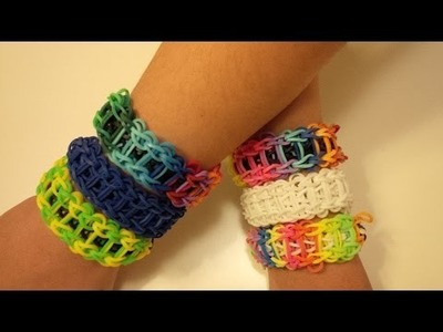Loom bands Ladder Bracelet. Armband Tutorial - NL. Dutch