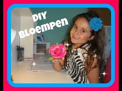 DIY BLOEMPEN - DIY flower pen ( AANGEPAST DUS WEL JUIST NU )