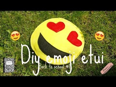 DIY Emoji etui.clutch.Back to school #1.RedHeaDiy