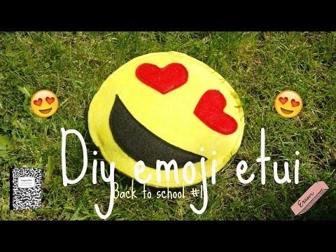 DIY Emoji etui.clutch.Back to school #1.RedHeaDiy