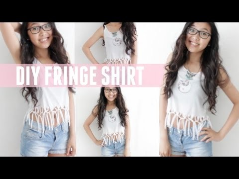 DIY SUMMER FRINGE SHIRT
