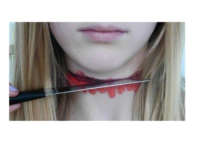 Halloween diy Blood Choker