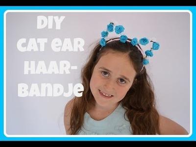 DIY cat ear haarbandje