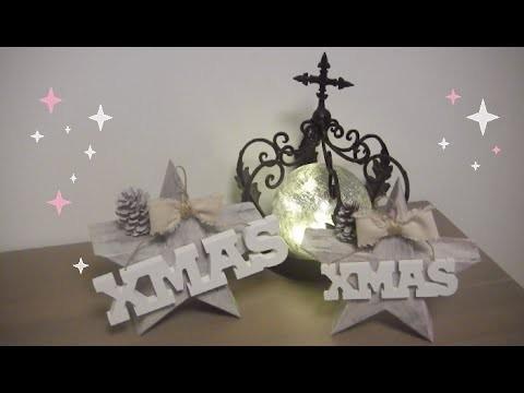 DIY Decoratie kerstster van hout | beautynailsfun.nl