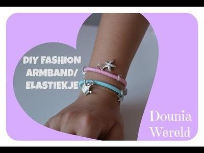DIY fashion armband. haarelastiekje