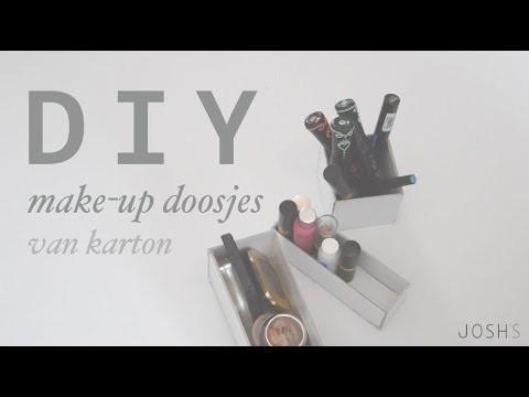 DIY | Make-up doosjes van karton