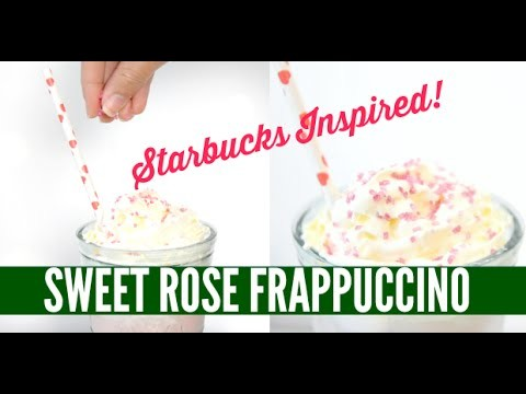 DIY Sweet Rose Frappuccino - Starbucks Inspired