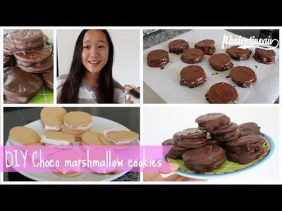DIY Choco marshmallow cookies