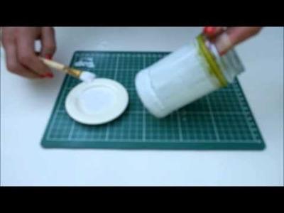 DIY met potjes. Glass jars