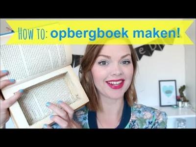 Opbergdoosje van een boek DIY | #girlwiththeDIY