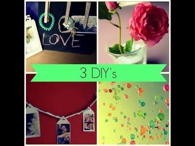 ❤ 3 DIY's {room decor}  ❤