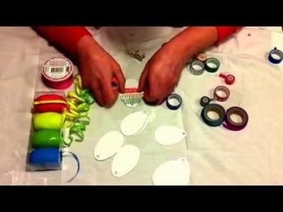 DIY Paastak washi tape! Leuk om met kinderen te maken.