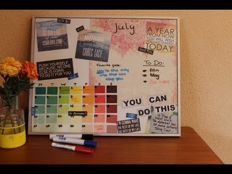 DIY Whiteboard Planner - Back To School | Ordinary Odd