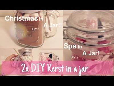 2x DIY Kerst in a jar