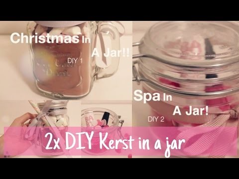 2x DIY Kerst in a jar