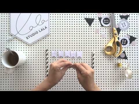 Studio Lala's mini taart slinger. feestprints. DIY