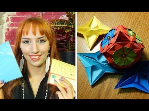 DIY: Origami winter.kerst decoraties
