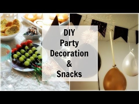 DIY Oudjaarsavond Party Decoration & Snacks | Shoppingsarah