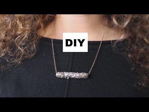 DIY: Ketting hanger van RIETJE en DUCTAPE! || DIY DONDERDAG ||