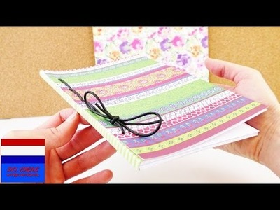 DIY zelf notitieboekje & dagboek maken | zelf boekbinden |leuk schrift maken