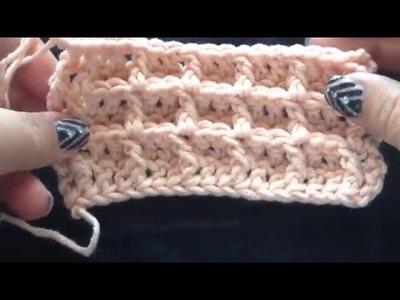 Wafelsteek haken - crochet waffle stitch
