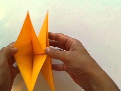 Hoe maak je een  pompoen maken - origami pompoen - paper pompoen - DIY Halloween pompoen