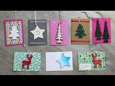 DIY 8 Kerstkaarten met een cadeautje