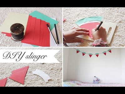 DIY. summer watermelon garland!