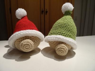 Kerstman Sneeuwpop haken. Santa Claus Snowman crochet 1.2