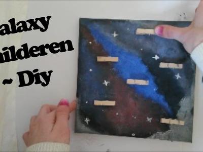 Galaxy schilderen ~ Diy