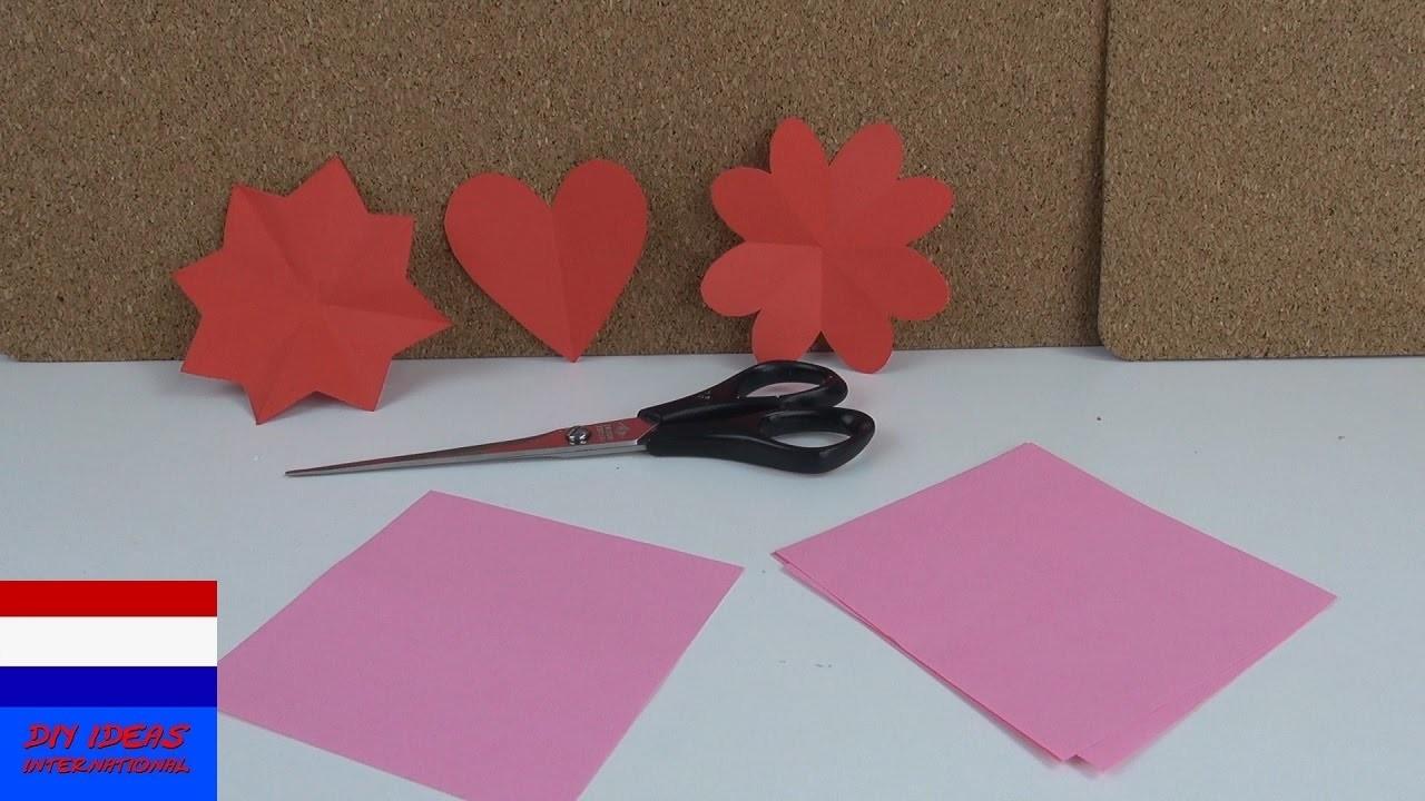 Sterren, harten & bloemen uitknippen | DIY knutselideeën voor kinderen
