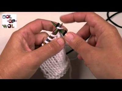 Beginners breien, nieuwe kleur. draad aanhechten
