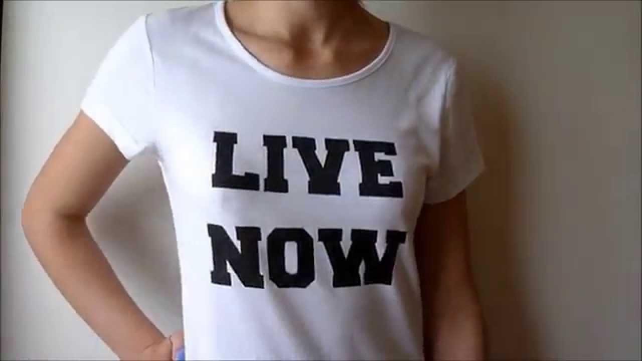DIY: shirt met tekst!