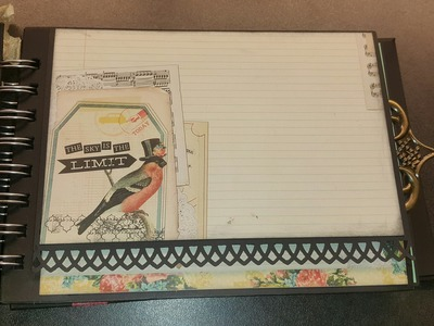 Spread your wings & fly scrapbook mini album tutorial deel.part  1