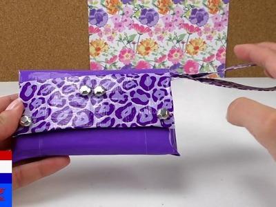 Telefoonhoesje van ducttape – miniclutch met versiering eenvoudig zelf maken