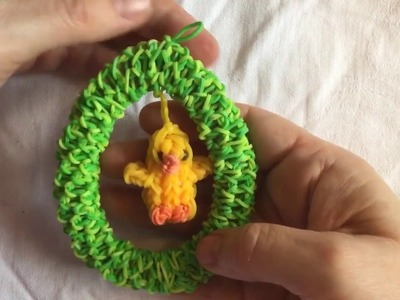 Rainbow loom: loom hanger voor Pasen. Easter loom decoration
