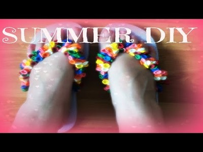 DIY: Beach Slippers with little balloons!