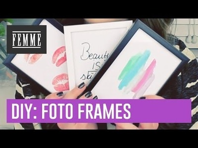 DIY: foto frames versieren - FEMME