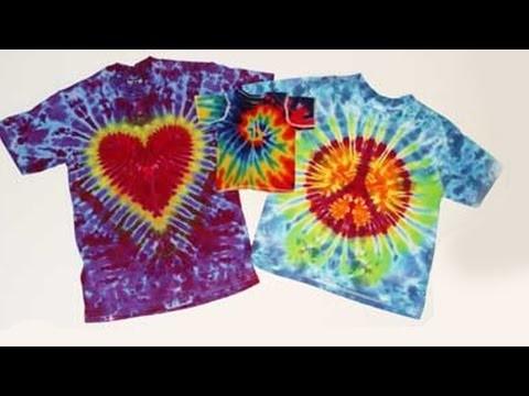 DIY TIE DYE SHIRT | Maak zelf regenboog tshirts met Textiel Dye