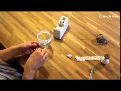 DIY waxinelichthouders met kant en touw | Zusa-Design