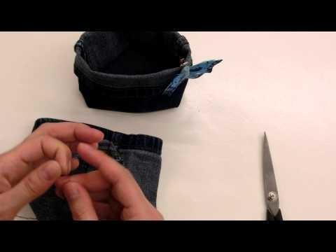 DIY - Mandjes van een oude Jeans!
