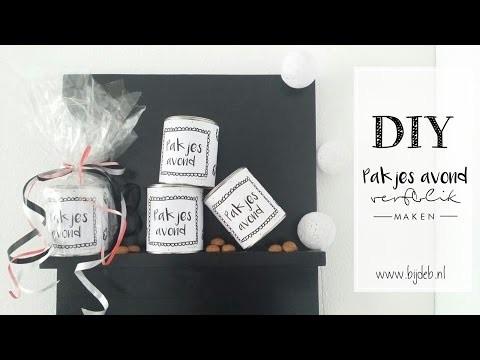 DIY Pakjesavond verfblik maken