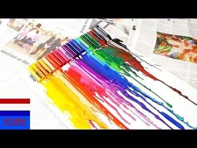 Waskrijtjes smelten DIY - Mooi schilderij maken van waskrijtjes makkelijk te maken | Nederlands