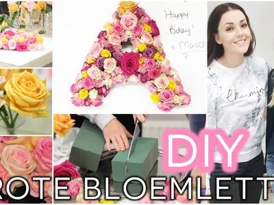 DIY ❤ Grote bloemletter met Hella | Beautygloss