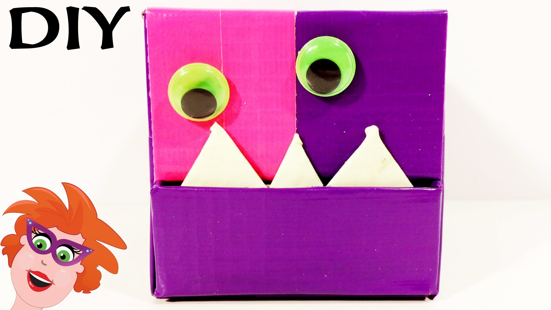 Monsterdoos sieradendoos cadeau knutselen voor for Dingen voor moederdag