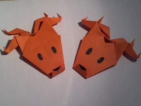 Christmas Decorations (part 5): Origami Reindeer Head. Origami Rendierhoofd