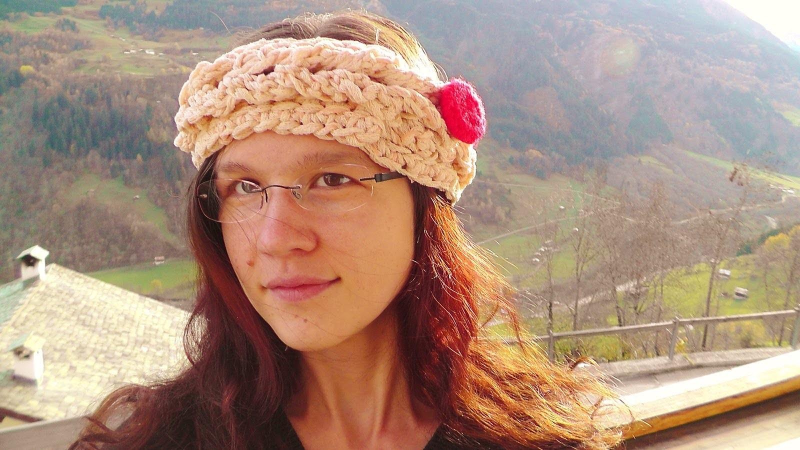 Rapunzel headband tunisian crochet pattern Schachenmayr select CABARÉ